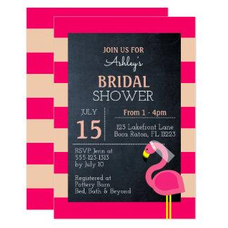 ピンクのフラミンゴのブライダルシャワーの招待状 カード