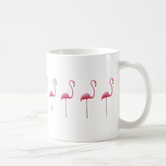 ピンクのフラミンゴのマグの白 コーヒーマグカップ