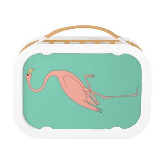 ピンクのフラミンゴのランチボックス ランチボックス