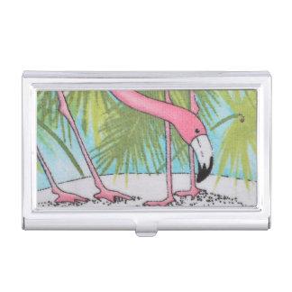ピンクのフラミンゴの名刺入れ 名刺入れ