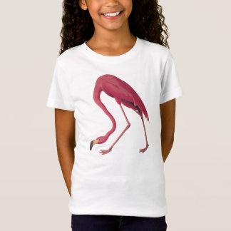 ピンクのフラミンゴの女の子のBellaのベビードールのTシャツ Tシャツ
