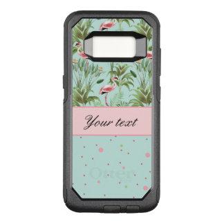 ピンクのフラミンゴの水玉模様 オッターボックスコミューターSamsung GALAXY S8 ケース