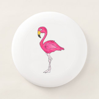 ピンクのフラミンゴの熱帯島の鳥のプリントのフラミンゴ Wham-Oフリスビー