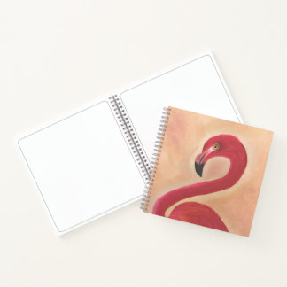 ピンクのフラミンゴの芸術 ノートブック