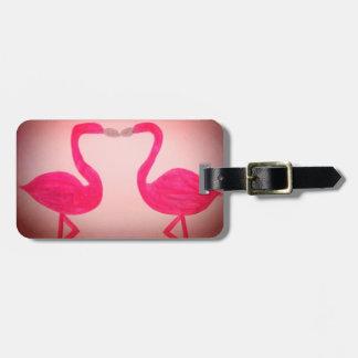 ピンクのフラミンゴの荷物のラベル ラゲッジタグ