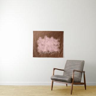 ピンクのフラミンゴの雲のタペストリー タペストリー