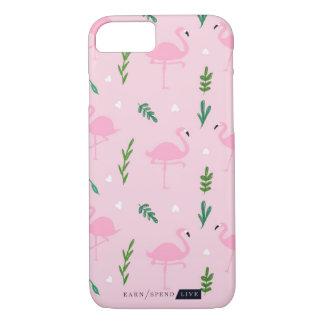 ピンクのフラミンゴの電話箱 iPhone 8/7ケース