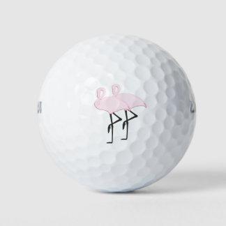 ピンクのフラミンゴ ゴルフボール