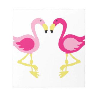ピンクのフラミンゴ ノートパッド