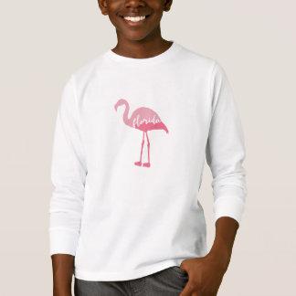 ピンクのフラミンゴ|フロリダの書道 Tシャツ
