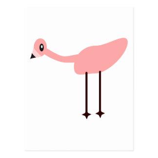 ピンクのフラミンゴ ポストカード