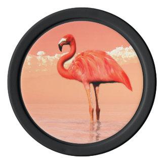 ピンクのフラミンゴ ポーカーチップ