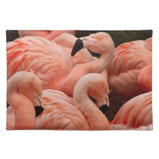 ピンクのフラミンゴ ランチョンマット