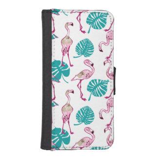 ピンクのフラミンゴ iPhoneSE/5/5sウォレットケース