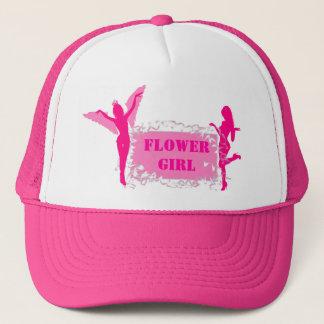ピンクのフラワー・ガールのバチェロレッテ キャップ