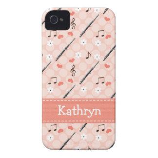 ピンクのフルートのiPhone 4の4s穹窖カバー Case-Mate iPhone 4 ケース