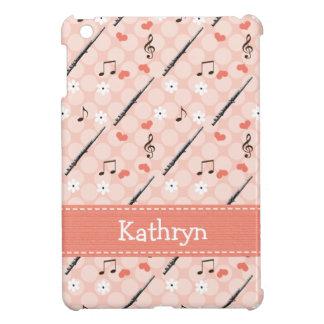 ピンクのフルート iPad MINI カバー