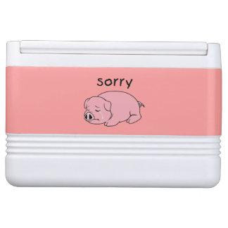 ピンクのブタのクーラーランプを泣いている私は残念な泣き叫びです クールボックス
