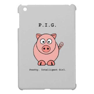 ピンクのブタのユーモア iPad MINIカバー