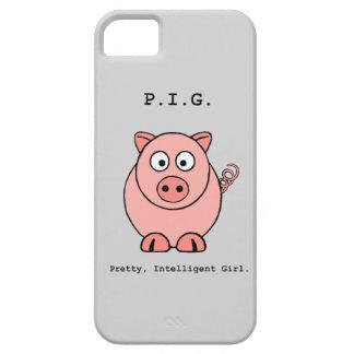 ピンクのブタのユーモア iPhone SE/5/5s ケース