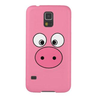 ピンクのブタの顔 GALAXY S5 ケース