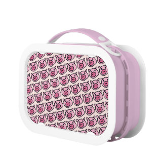 ピンクのブタパターン ランチボックス