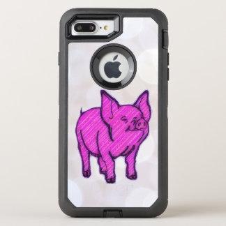 ピンクのブタ オッターボックスディフェンダーiPhone 8 PLUS/7 PLUSケース
