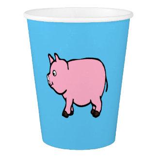 ピンクのブタ、パーティのコップ 紙コップ