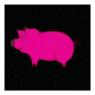 ピンクのブタ ポスター