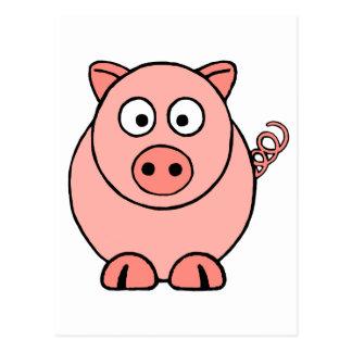 ピンクのブタ ポストカード