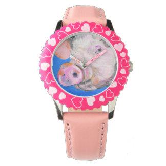 ピンクのブタ 腕時計