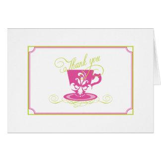 ピンクのブライダルシャワーのサンキューカード カード