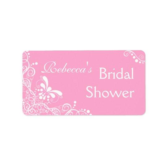 ピンクのブライダルシャワーのラベル ラベル