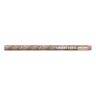 ピンクのブラウンのトラのコラージュ 鉛筆