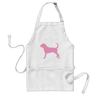 ピンクのブラッドハウンド犬 スタンダードエプロン