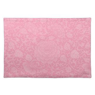 ピンクのブロケード ランチョンマット