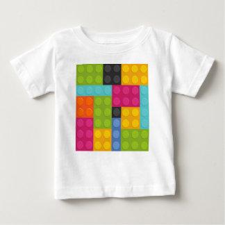 ピンクのブロック ベビーTシャツ