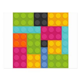 ピンクのブロック ポストカード