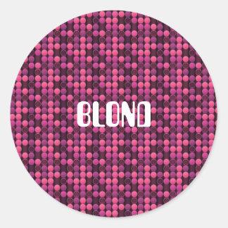 ピンクのブロンド ラウンドシール