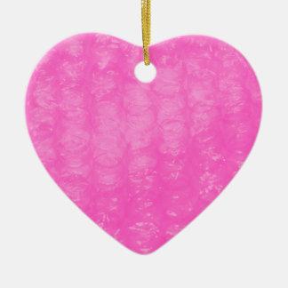 ピンクのプラスチック気泡緩衝材 セラミックオーナメント