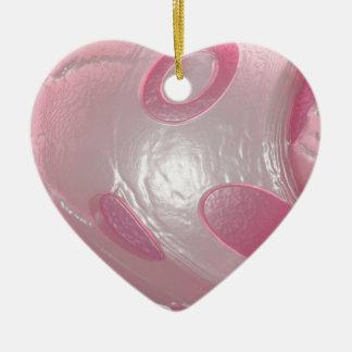 ピンクのプラスチック セラミックオーナメント