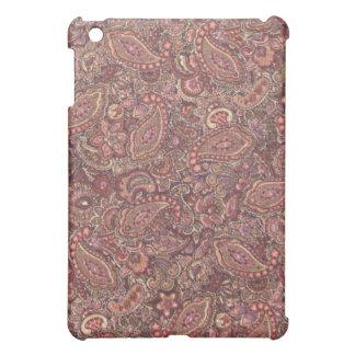 ピンクのプラムペイズリー iPad MINIケース
