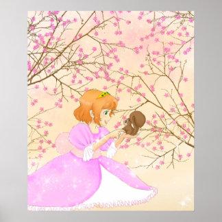 ピンクのプリンセスおよびリスポスター ポスター