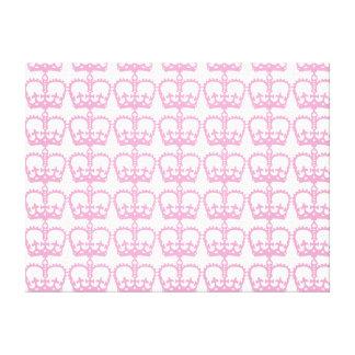 ピンクのプリンセスの王冠 キャンバスプリント