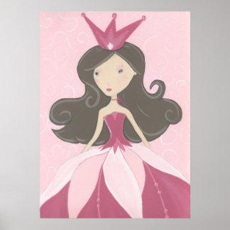ピンクのプリンセスポスター ポスター