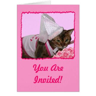 ピンクのプリンセス猫 カード