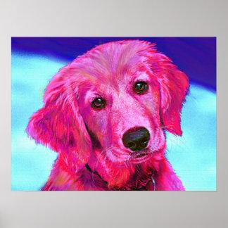 ピンクのプリントでかわいらしい ポスター