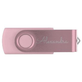 ピンクのプリントのモノグラムUSBの親指ドライブ USBフラッシュドライブ