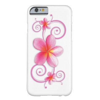 ピンクのプルメリアの渦巻 BARELY THERE iPhone 6 ケース