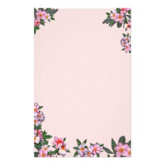 ピンクのプルメリア 便箋